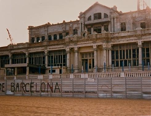 'My' ruin on San Sebastian beach, Barcelona 1988