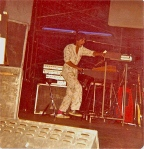 On stage with The Eaglekings.  Autumn1978